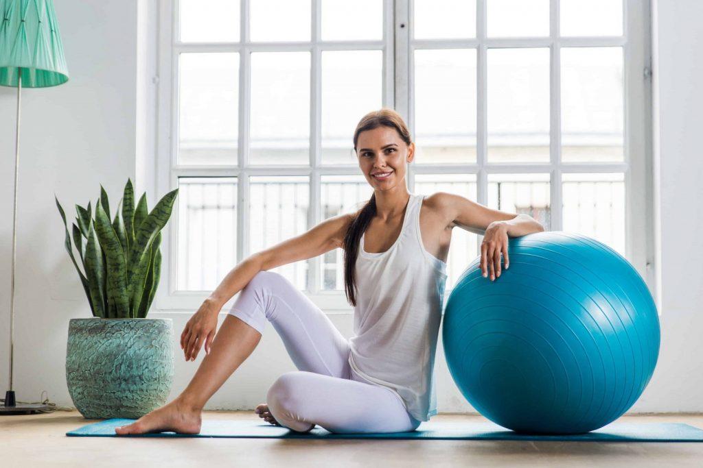 Pelota Pilates Fitball en Casa